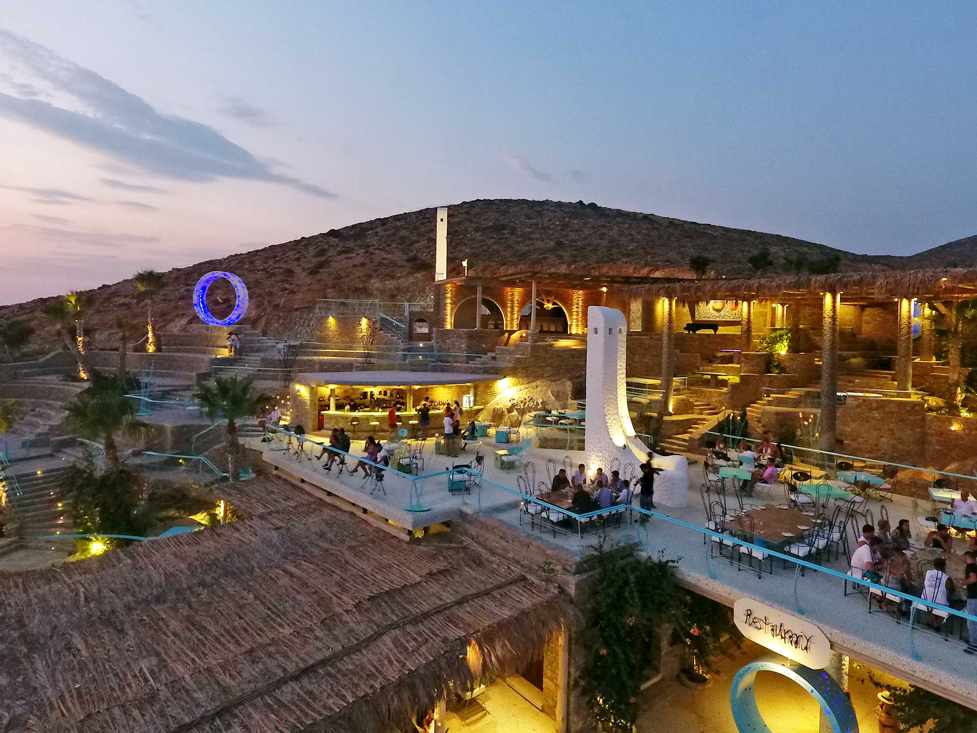 Sunset Bar and Restaurant Ios Island Pathos Lounge Ios Island Greece